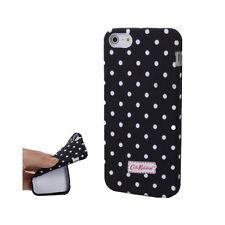 Smart Protectors! Softcase TPU Hülle Case für iPhone SE / 5 / 5S Punkte Schwarz