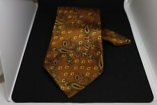 Cravatta marrone a pois- 100% seta- Valby Handmade