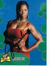 JACQUELINE SIGNED 2001 FLEER WWE DIVAS COLLECTION #11 - WWE TNA
