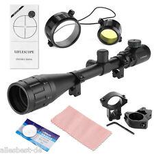 Rot/Grün 6-24x50AOEG Jäger Luftgewehr Zielfernrohr Mil Dot Riflescope +Montagen