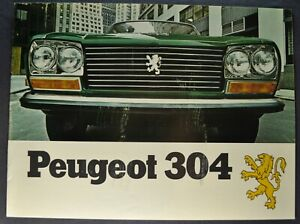 1971-1972 Peugeot 304 Catalog Sales Brochure Sedan Wagon Nice Original