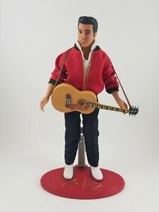 """1993  Elvis Presley Jailhouse Rock 45 RPM Doll Action Figure with Stand 11.5"""""""