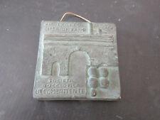 Targhetta premio VI° trofeo Città di Fano Bocce - 1970