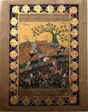 ANCIENNE PEINTURE MINIATURE XIXe ORIGINALE ART.PERSE.IRAN.FIN 19 éme