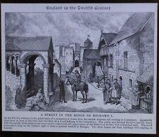 A Street in the Reign of Richard I, Magic Lantern Glass Slide