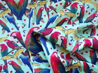 Parrot Parrots Macaw Fat Quarter Fabric Unique Design Crafting Fabrics Craft UK