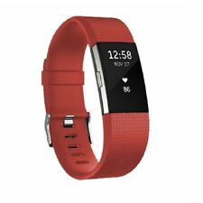 Genuine Sports Silicone Bracelet Strap Replacement Wristband For Fitbit Charge 2
