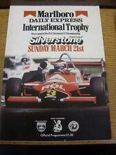 21/03/1982 Motor Racing Programme: At Silverstone, Marlboro Daily Express Intern