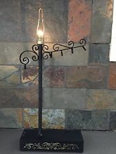 "Vintage Wrought Iron Table Lamp Mini/Night/Decorative Light 15""- Battery Op!"