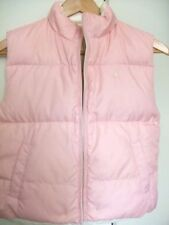 New Polo Ralph Lauren Girls Reversible Down Vest Pink Cream L 12 14 NWT