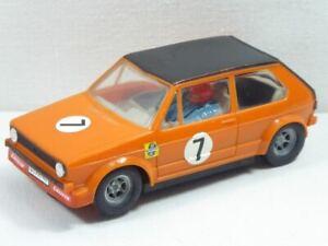 Carrera Universal 132 VW Golf orange mit Chassisgewichte Nr.40435 GUT! (F6862)