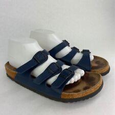 Birkenstock Unisex Florida Slides Sandals Blue Buckle Slip On M 8 W 10 EU 41