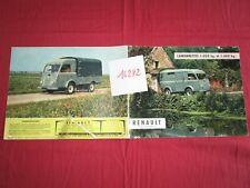 N°16282 : RENAULT camionnette 1000 Kg et 1400 Kg / catalogue septembre 1957