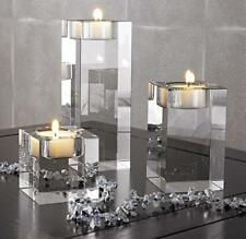 3pcs/set Crystal Vases Light Candles Holder Glass Core Tea Stand Wedding Party