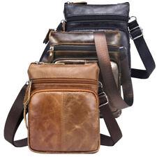 Men Genuine Leather Messenger Shoulder Bag Small Cross Body Bag Satchel TOTE