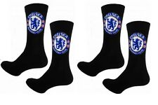 Chelsea FC Oficial Fútbol Cresta Calcetines para hombre (UK 6-11) 2 Pares