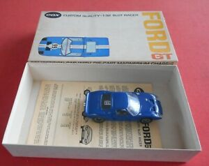 COX 1/32 Ford GT Slot Car Very Good Condition with Instructions and Boxed