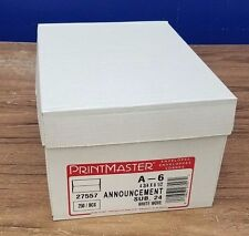 Box of 250 Printmaster 24lb White A6  Announcement Envelopes