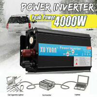 4000W Voiture Power Inverter DC12 to AC 24V à AC 220V Convertisseur Onduleur