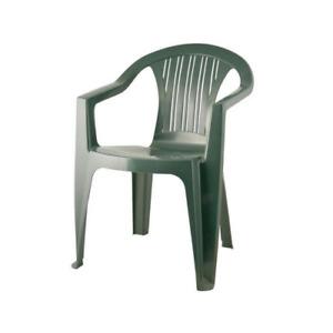 Ratak green stackable polypropylene chair 56x56x79 cm