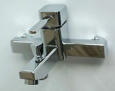 Luxury Wall Mounted Bathroom Basin Sink Faucet Bath Mixer Tap Chrome