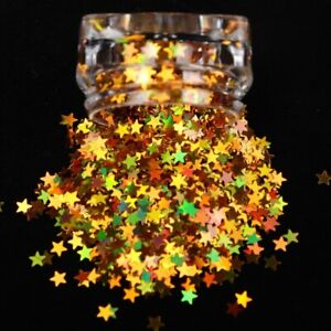 Nail Sequins Holographic Gold Star 3D Sparkly Nail Art Decoration Nails Tools