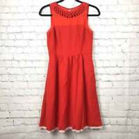 Anthropologie Maeve Red Fit And Flare Dress Size 4