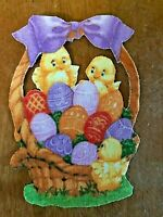 Easter Basket - 1 - Iron-On Fabric Appliques.