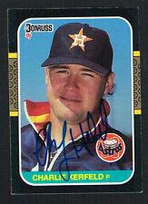 Charlie Kerfeld #209 signed autograph auto 1987 Donruss Baseball Trading Card