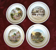Roy Thomas Collection Currier & Ives Four Seasons Plates 1981 Set of 4 @3B