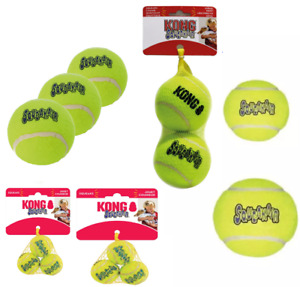 KONG SqueakAir Dog Tennis Balls XS Small Medium Large XL or Ball on Rope Fetch