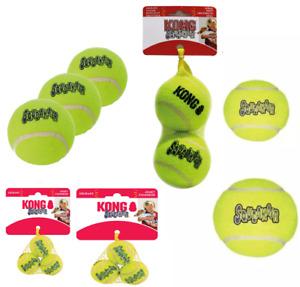 KONG SqueakAir Dog Tennis Balls XS Small Medium Large XL or Ball on Rope Fetch