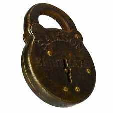 SAMSON 8 EIGHT LEVER CORBIN Padlock Brass Old Vintage Antique Lock (no key)