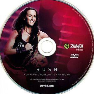 Zumba DVD Rush OVP Fitness Exhilarate + Bonus Outtakes Workout 100% Original