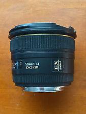 Sigma's 50mm f1.4 EX DG HSM Canon Ef Mount