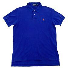 Mens M Polo Ralph Lauren Faded Blue Golf Polo Short Sleeve Pony Shirt Medium