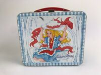 VINTAGE JUNIOR MISS GIRL WITH HAT METAL LUNCH BOX  1973