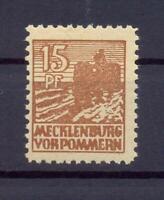 SBZ 37 Yc 15 Pfg. seltene Farbe mittelgelbbraun postfrisch gepr. Kramp (xs68)