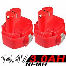 2x3.0Ah 14.4V NI-MH Battery For Makita 1420 1422 1433 6237D 6932FD PA14 192699-A