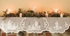 """Heritage Lace SILENT NIGHT 20"""" X 90"""" White Mantle Scarf NIP SI-2090MSW USA MADE"""