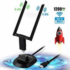 Adaptador Wifi 1200 Mbps Doble Banda 2.4GHz/300 Mbps 5.8GHz/Inalámbrico 867 Mbps Usb 3.0