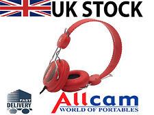 WeSC OBOE Street On Ear Headphones Red w/ Handsfree
