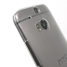 Clear  Hard Case Cover Shell for HTC One M8 2014 Smartphone + Screen Protector