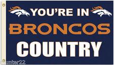 Denver Broncos Huge 3' x 5' Nfl Licensed Country Flag