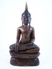 Statue de Bouddha Bhumisparsa Mudra en Teck - Bouddha Thai