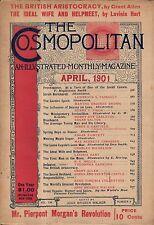 1901 Cosmopolitan April - H G Wells First men in the Moon; Sarah Bernhardt