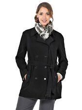 W3714 Sheego Damen Trenchcoat Mantel schwarz 40