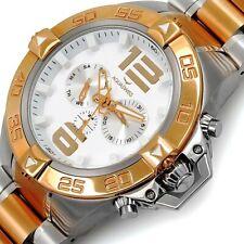 AQUASWISS Men's G74 2-Tone Day/Date Brand New Multifunction Watch-List $995