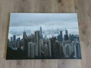 Moskau City Skyline Leinwand Canvas Bild Wandbild Kunstdruck L1515 Gr/ö/ße 70 cm x 50 cm