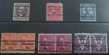 USA President Washington Quincy Adams Stamps - Birmingham ALA Overprint - 734